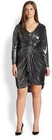 T-Bags Los Angeles, Sizes 14-24 Metallic Twist-Front Dress