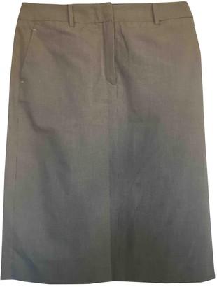 Nicole Farhi Grey Cotton Skirt for Women