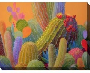"West of the Wind Outdoor Canvas Wall Art, Desert Wealth, 40"" x 30"""