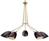 AERIN Sommerard 5-Light Chandelier - Black/Brass