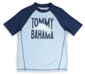 Tommy Bahama Boy's Graphic Colorblock Rashguard
