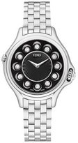 Fendi Crazy Carats Stainless Steel Topaz Watch with Black Dial