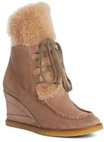 Chloé Women's Peggy Genuine Shearling Wedge Bootie