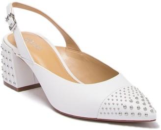 MICHAEL Michael Kors Mila Studded Slingback Low Block Heel Pump