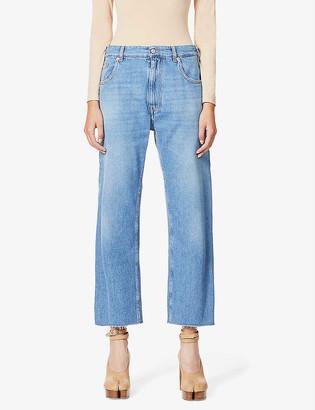 MM6 MAISON MARGIELA Raw hem wide-leg high-rise jeans