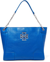 Tory Burch Britten textured-leather tote