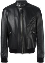 Tom Ford zipped pocket jacket - men - Silk/Calf Leather/Rayon - 50