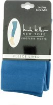 Nicole Miller Fleece Lined Plush Footless Tights Extra Warm - Blue/ML