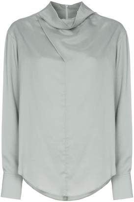 Low Classic cowl-neck blouse