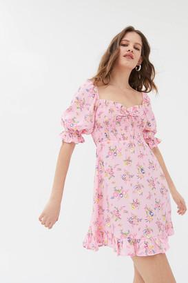 Faithfull The Brand Sage Floral Mini Dress