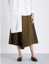 Yohji Yamamoto A-line cotton-canvas skirt
