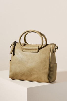 Anthropologie Sage Crossbody Tote Bag By in Green Size ALL
