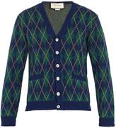 Gucci Argyle-intarsia wool and cashmere-blend cardigan