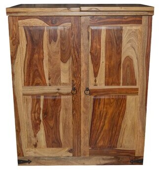 Loon Peak Traci Sheesham Wood Bar Cabinet