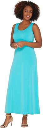 Susan Graver Liquid Knit Sleeveless Maxi Dress