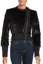 BCBGMAXAZRIA Breton Faux Fur Jacket