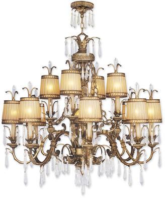 Livex Lighting Livex La Bella 12-Light Vintage Gold Leaf Chandelier
