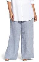 Nic+Zoe Plus Size Women's Drifty Linen Wide Leg Pants