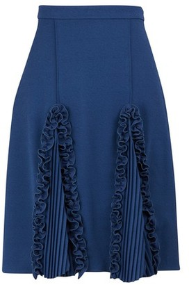 Marco De Vincenzo Ruched knee-length skirt