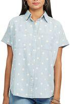 Chaps Women's Polka-Dot Chambray Shirt