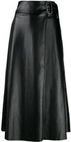 Each X Other Vegan leather wrap skirt