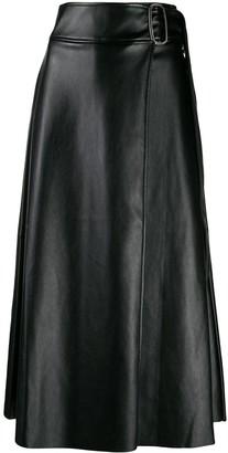 Each X Other Vegan leather wrap skirt