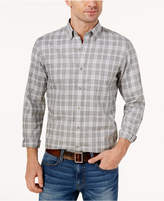 Club Room Men's Gray Plaid Shirt, Created for Macy's