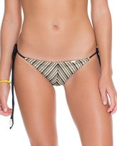 Luli Fama Desert Babe Brazilian Ruched Tie Side Bottom, S