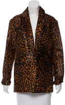 Rag & Bone Pony Hair Leopard Print Jacket