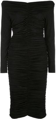 Rhea Costa Ruched Off-The-Shoulder Dress
