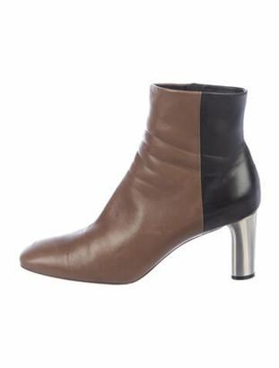 Celine Leather Colorblock Pattern Chelsea Boots Black