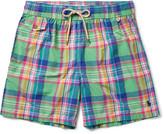 Polo Ralph Lauren Traveler Mid-Length Plaid Cotton-Blend Swim Shorts