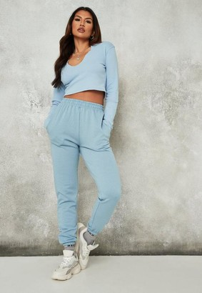 Missguided Blue Basic Joggers