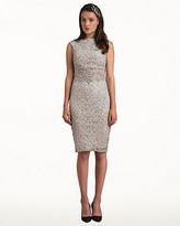 Le Château Beaded Boat Neck Cocktail Dress