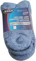 Dr. Scholl's Dr Scholls Weekend Crew Socks - 2 Pairs