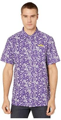 Columbia College LSU Tigers CLG Super Slack Tidetm Shirt (Vivid Purple) Men's Clothing