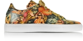 Cesare Paciotti Pin up Printed Leather Low Top Men's Sneaker