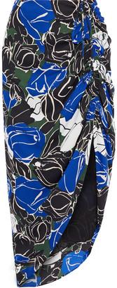 Diane von Furstenberg Aya Asymmetric Printed Crepe De Chine Skirt