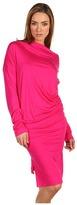 Vivienne Westwood Long Sleeve Drape Dress (Fuschia) - Apparel