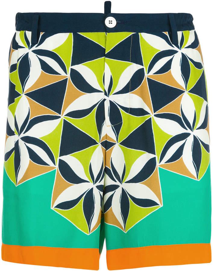 DSQUARED2 retro printed shorts