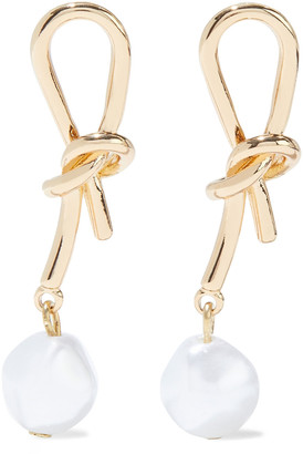 Kenneth Jay Lane 14-karat Gold-plated Faux Pearl Earrings