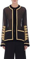 Givenchy Women's Military-Embellished Chiffon Overlay Jacket-BLACK