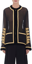 Givenchy Women's Military-Embellished Chiffon Overlay Jacket