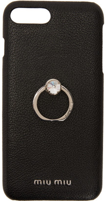 Miu Miu Black Madras Ring iPhone 8 Plus Case