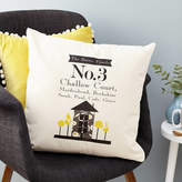 Tillie Mint Loves New Home Personalised Cushion