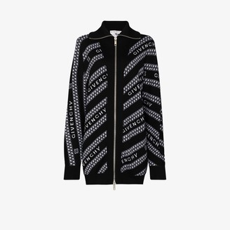 Givenchy Chain Logo Wool Cardigan