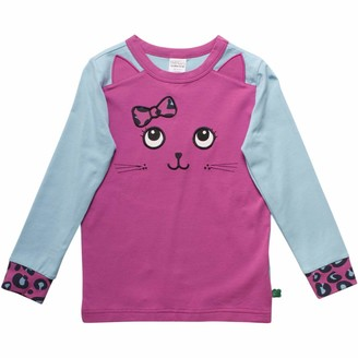 Green Cotton Fred's World by Girl's Animal Front T T-Shirt