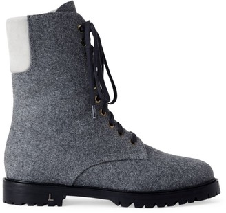 Lafayette 148 New York Fineley Cashmere & Wool Combat Boots