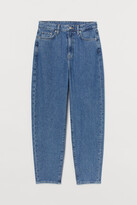 H&M Mom Loose-fit Ultra High Jeans - Blue