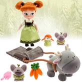 Disney Animators' Collection Anna Mini Doll Play Set - 5''